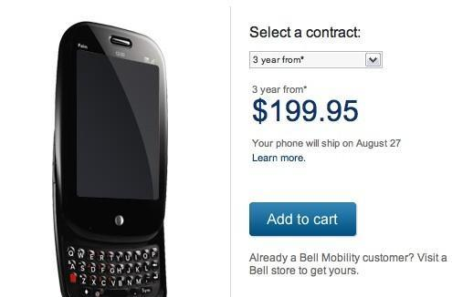 Video: Palm Pre jumps the border, now shipping on Bell