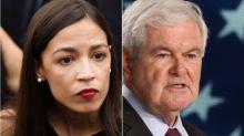 Alexandria Ocasio-Cortez Turns Newt Gingrich's 'Dishonest' Smear Back On Him
