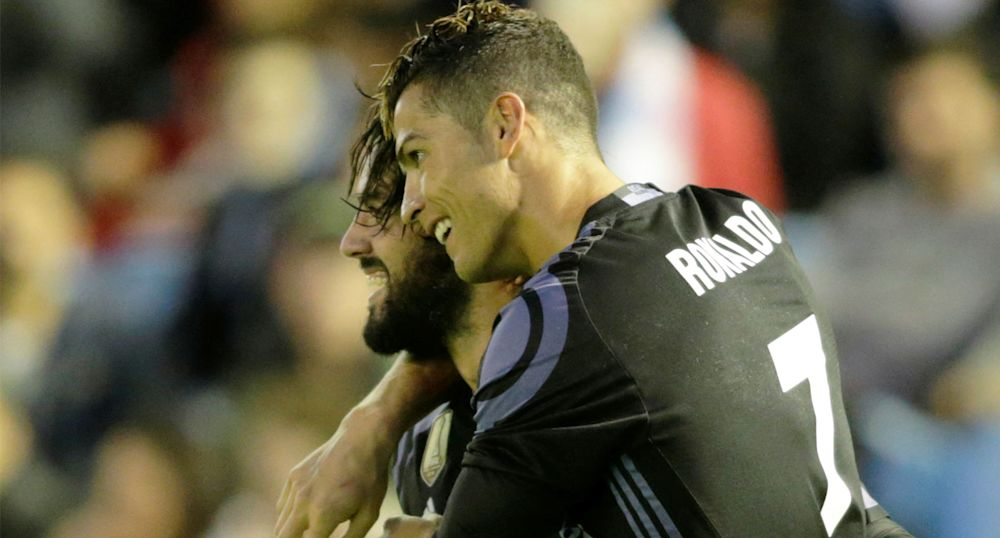 Isco and Cristiano Ronaldo