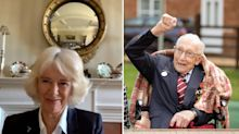 Duchess of Cornwall says Captain Tom Moore makes her 'proud to be British'