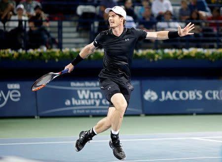 Andy Murray durante torneio de tênis de Dubai