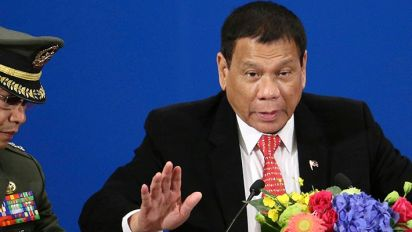 Philippine leader declares 'separation' from the U.S.