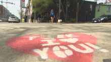 Painted 'F--- I Love You' hearts pop up on Ossington Avenue