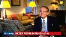 Blackstone Billionaire Pete Peterson Dies at 91