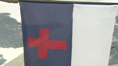 King Residents Protest Christian Flag Removal