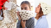 These chunky knit DIY kits make the cosiest winter trend even easier