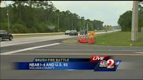 Road reopened near Volusia County brush fire