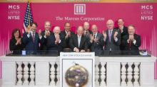 The Marcus Corporation (NYSE: MCS) celebrated 25 years of trading on the New York Stock Exchange (NYSE) by ringing today's Opening Bell®; Photo Available on Business Wire's Website and the Associated Press Photo Network