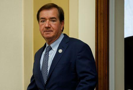 """Chairman of the House Foreign Affairs Committee Ed Royce (R-CA) arrives for a hearing with U.S. Ambassador to the United Nations Nikki Haley on """"Advancing U.S. Interests at the United Nations"""" in Washington"""