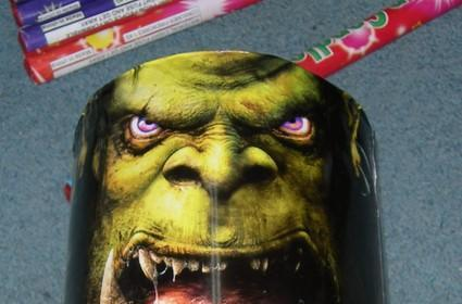 Warcraft III's Orc appears on fireworks