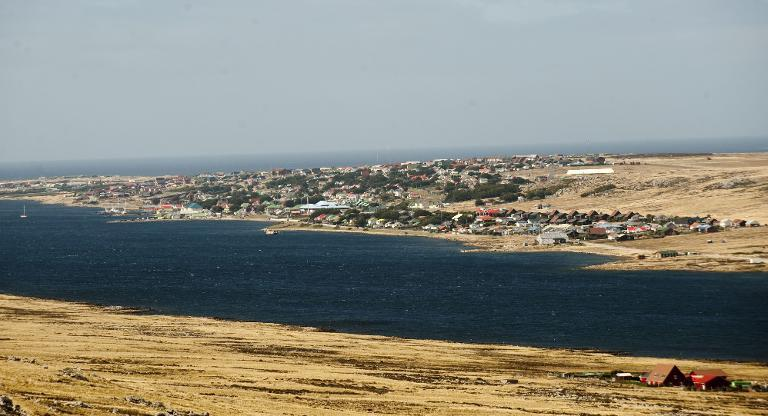 Port Stanley, in the Falkland Islands, pictured on March 29, 2012
