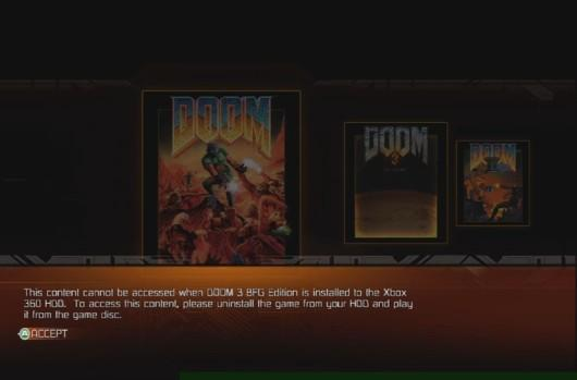 PSA: Don't install Doom 3 on Xbox 360 if you want to play Doom 1 & 2
