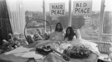 """CORRECTING and REPLACING PHOTO Hilton Marks 50th Anniversary of John Lennon and Yoko Ono's Bed-In for Peace with Groundbreaking New Video Series, """"Room 702"""""""