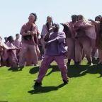 Kanye West cries, testifies, rocks Easter-egg hair at historic Coachella Sunday Service