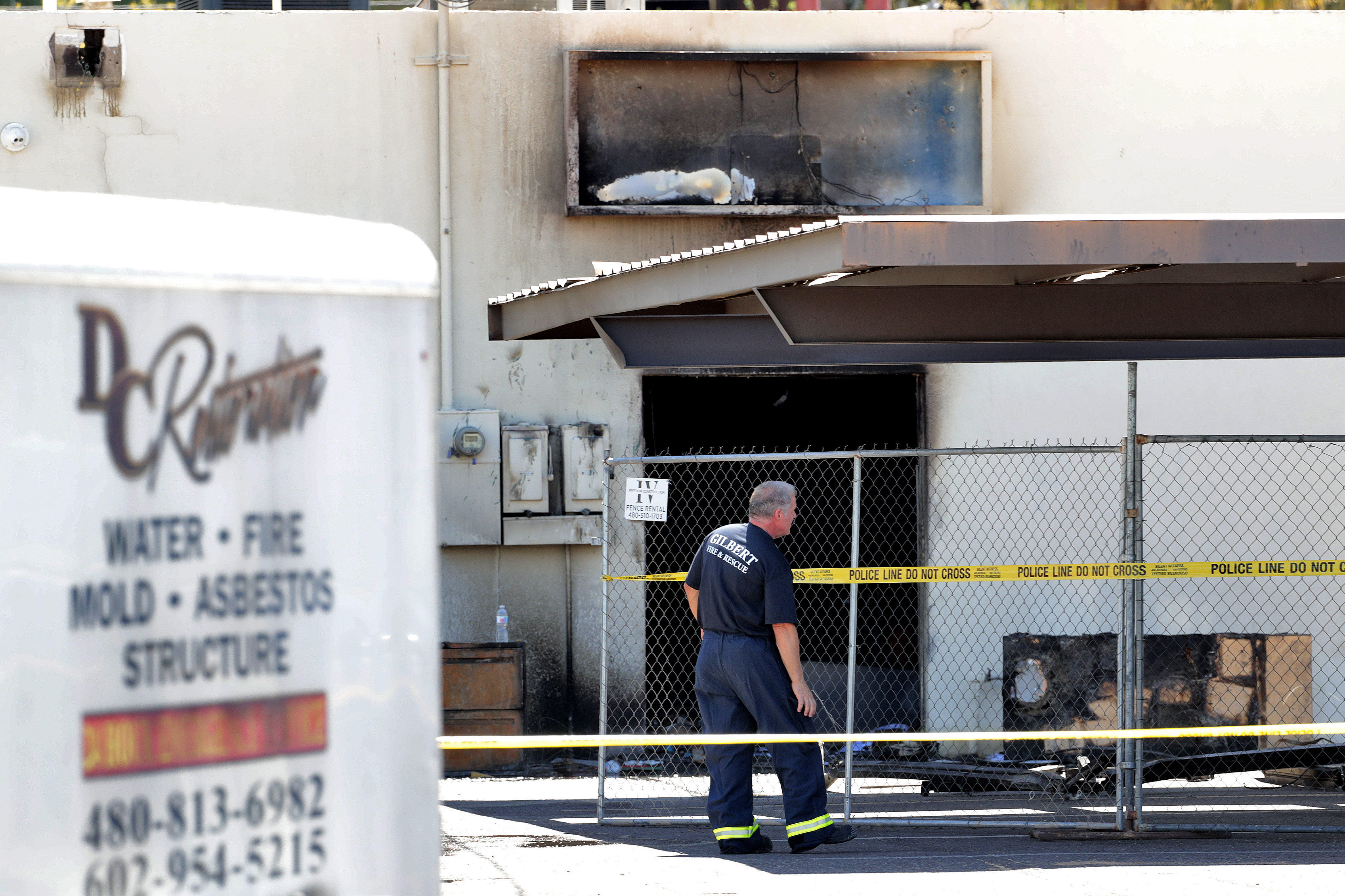 Man charged with arson after fire at Arizona county Dems' office