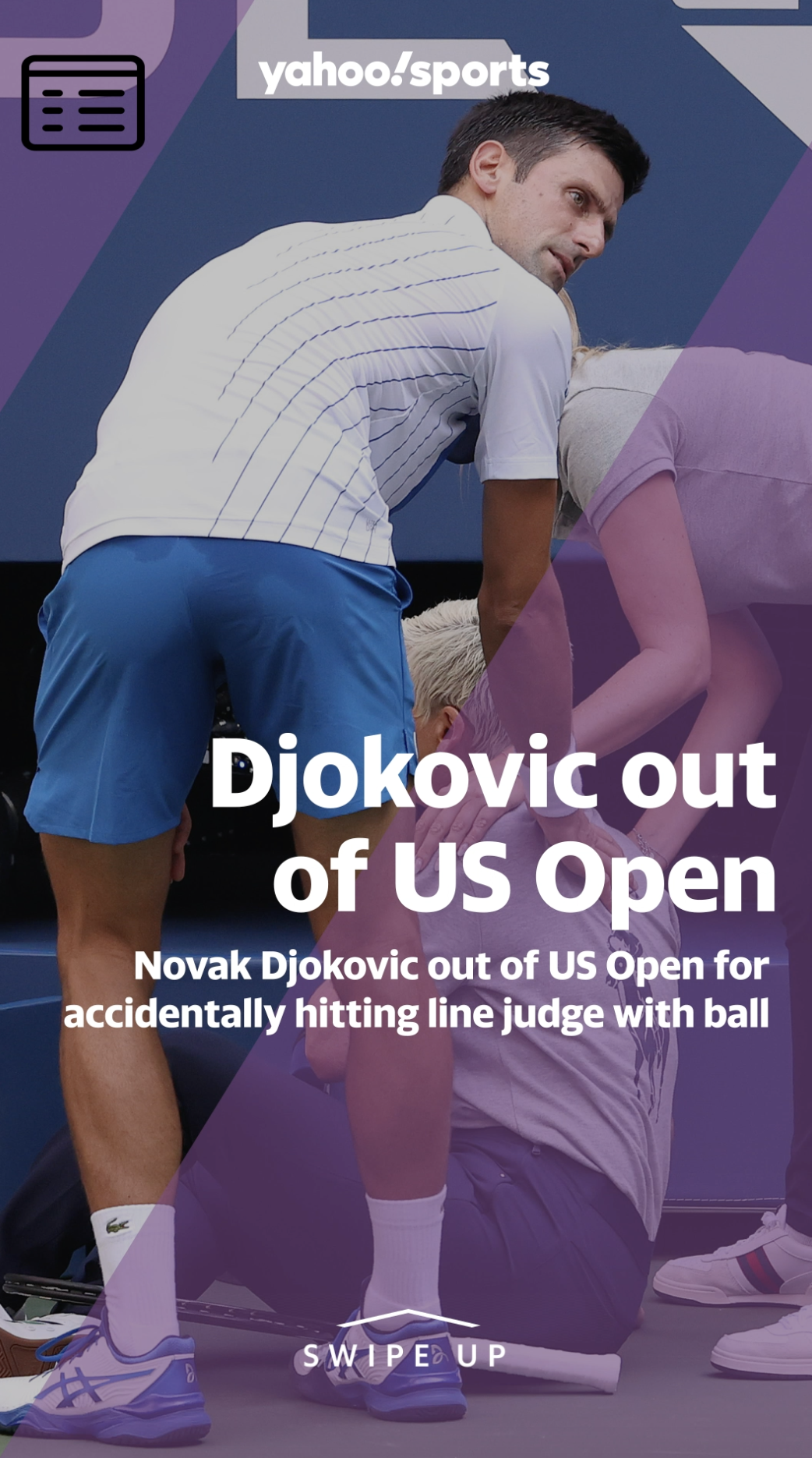 Novak Djokovic Out Of Us Open For Accidentally Hitting Line Judge With Ball Video