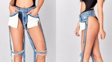 These 'Extreme Cut Out' Jeans Cost $168, But At Least They Have Pockets
