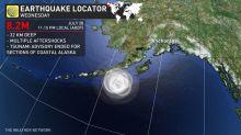 Tsunami warnings drop after magnitude 8.2 earthquake strikes off Alaska coast