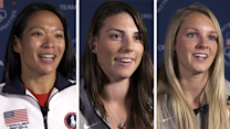 Julie Chu, Hilary Knight and Amanda Kessel can tell the Lamoureux twins apart