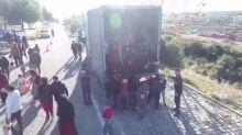 82 Flüchtlinge im Laderaum: Polizei hält LKW auf