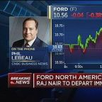 Ford North American head Raj Nair to depart immediately