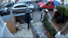 Shocking footage shows moment thief swipes Christmas gift from porch