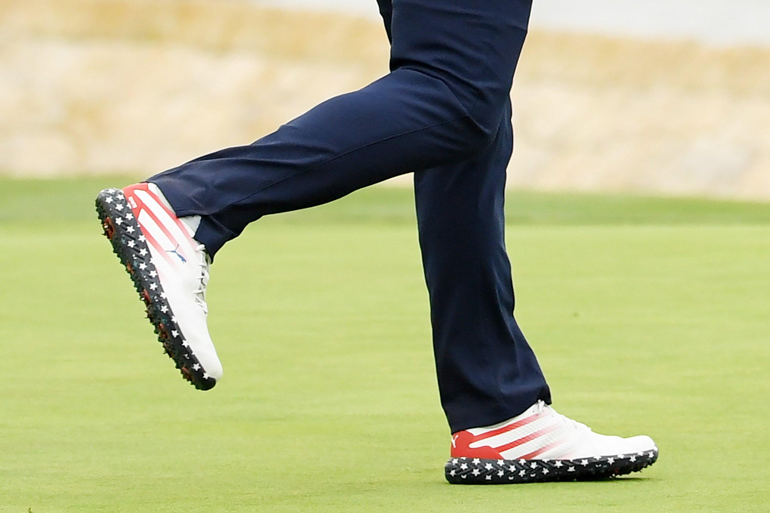 15bebdffe3 U.S. Open Winner Gary Woodland Wore American Flag-Covered Shoes During  Tournament to Honor Troops