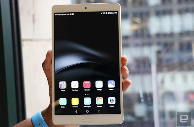 Huawei's MediaPad M3 features an 8.4-inch high-res display