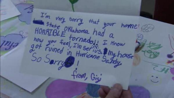 Young Sandy victims give hope to Oklahoma children