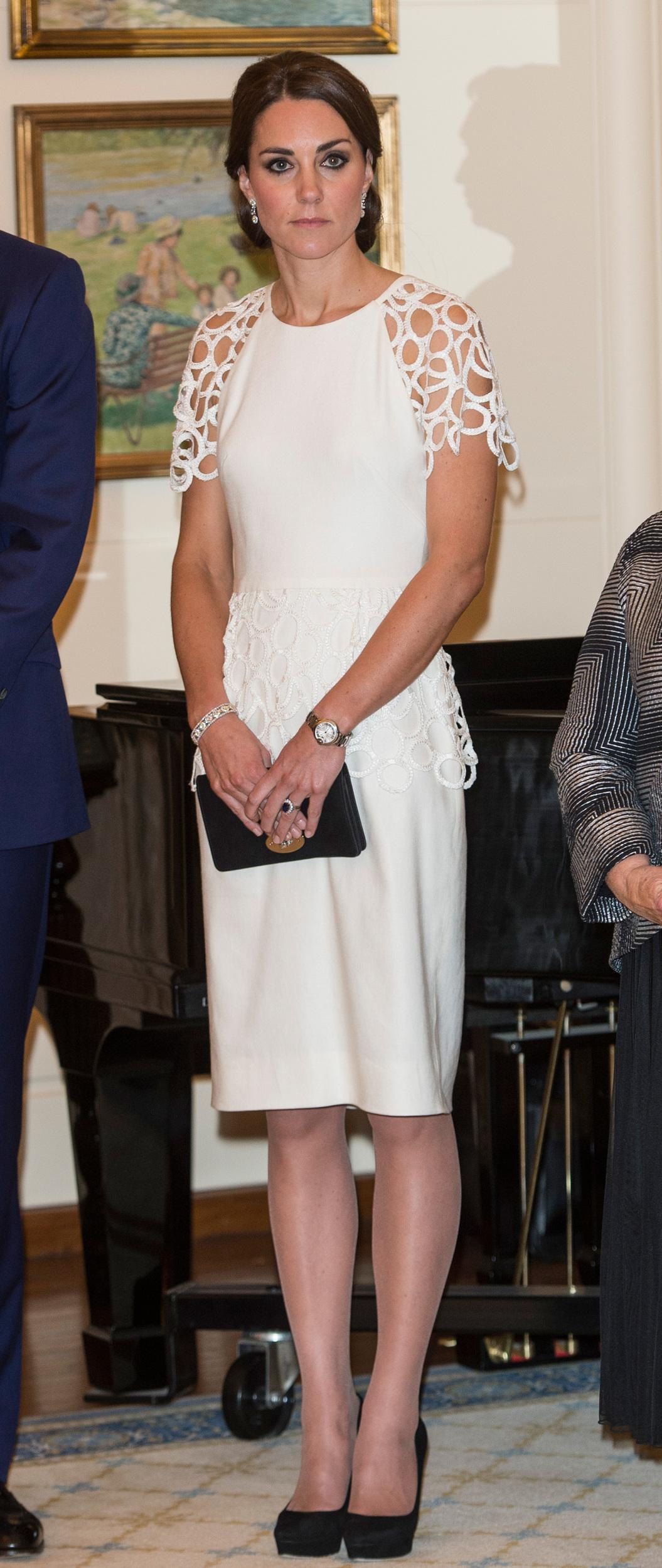 Catherine, Duchess of Cambridge attends a reception hosted by the Governor General Peter Cosgrove at Government House on April 24, 2014 in Canberra, Australia.