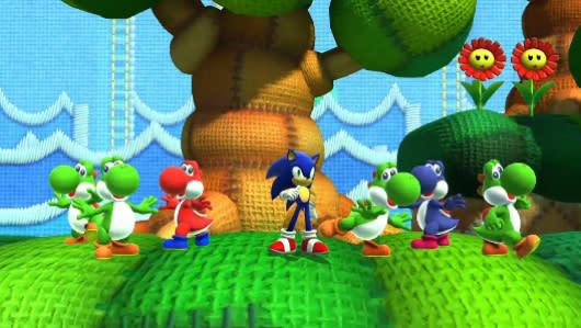 Yoshi S Island Zone Is One Of Two Sonic Lost World Dlc Stages Out Now Engadget