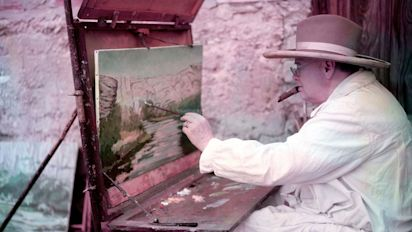 Sir Winston Churchill's last ever painting up for sale