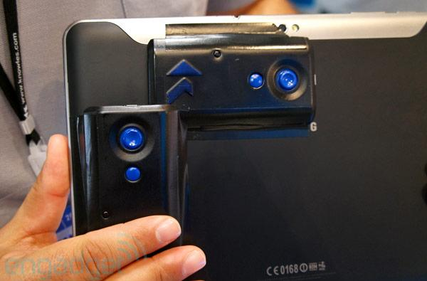 Knowles Electronics Mems Joystick for Samsung Galaxy Tab, Nintendo 3DS hands-on (video)