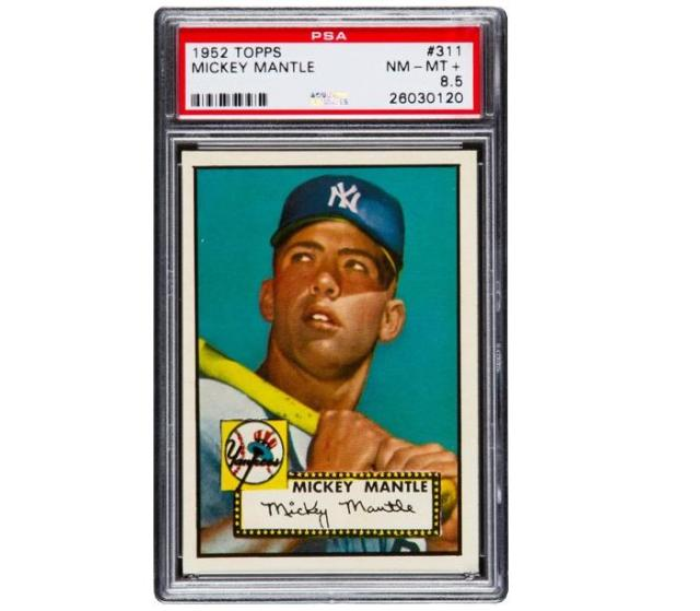 This 1952 Topps Mickey Mantle card sold for over $1M at a recent auction. (Heritage Auctions)