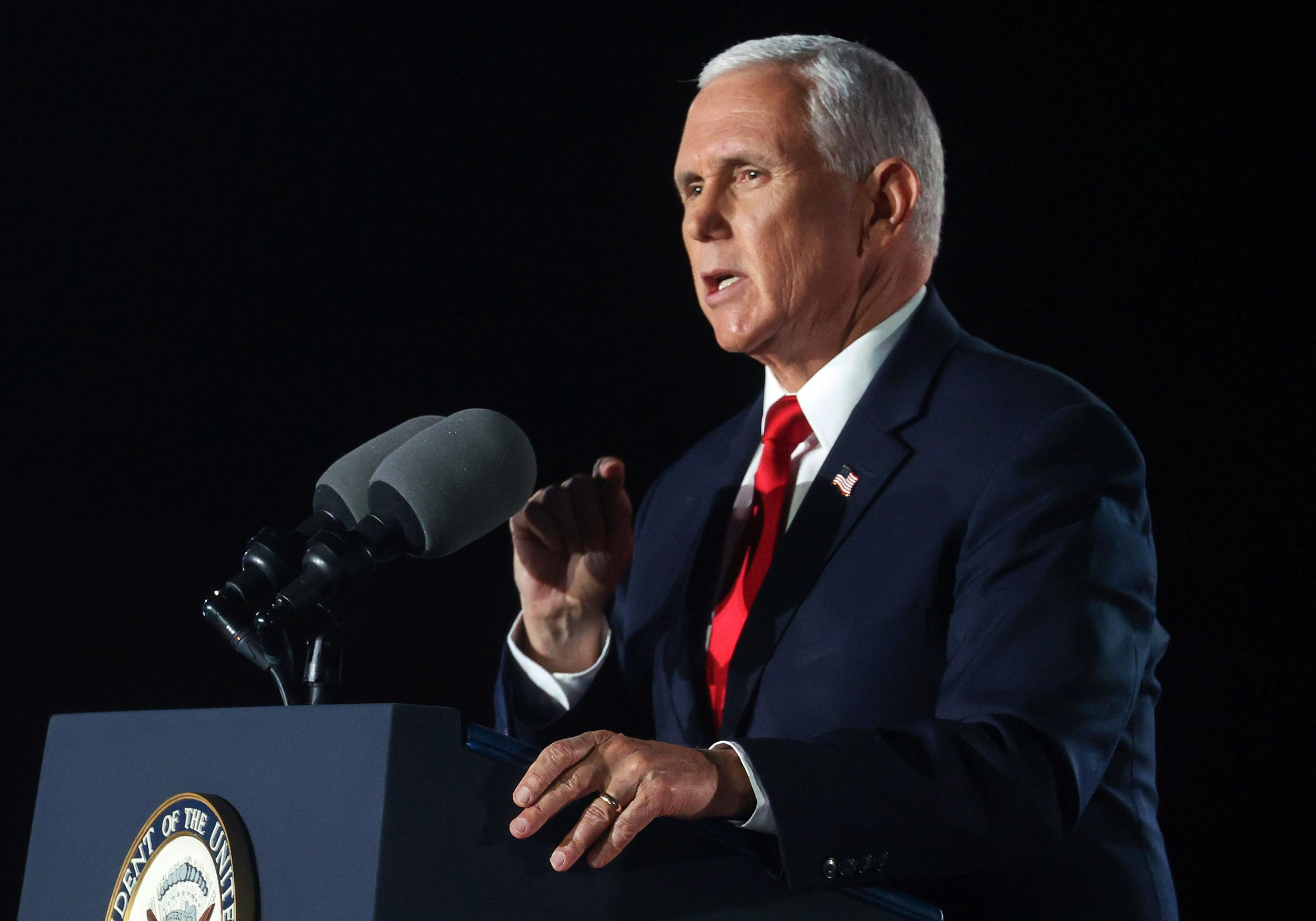 Pence drops plan to go to fundraiser hosted by QAnon backers