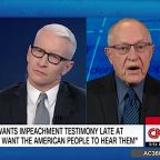 Dershowitz tells CNN he wasn't wrong about Clinton's impeachment but is 'far more correct' defending Trump