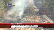 Fire Crews Battle Several Brush Fires In Burlington County
