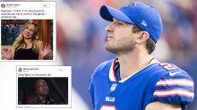 Twitter goes wild as Bills rookie QB Nathan Peterman throws five first-half interceptions