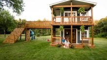 Michigan dad builds lavish 2-story playhouse for his daughters