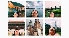 Une globe-trotteuse devient une star d'Instagram grâce à son menton