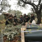 Syrian troops press ahead with campaign as strike kills 3