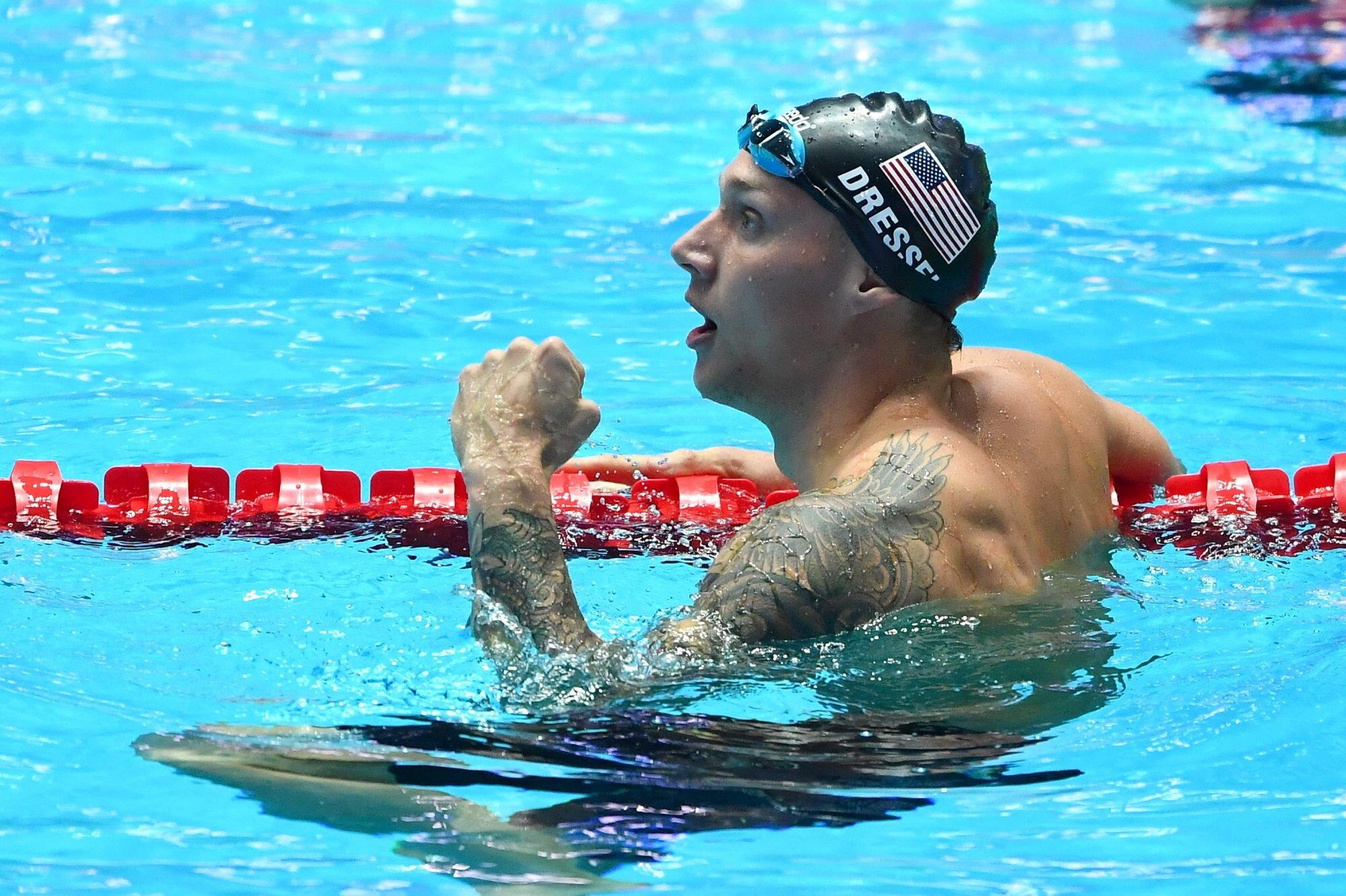 Caeleb Dressel Wins Second Gold at Tokyo Olympics, Sets New Olympic Record  in Men's 100m Freestyle