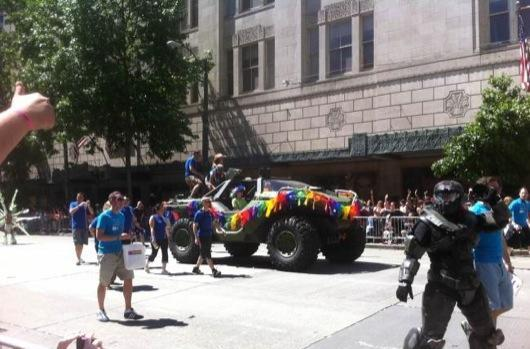 Halo Warthog gets rainbow colors in Seattle Pride parade