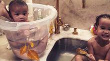 Should we all be bathing our babies in buckets, like Chrissy Teigen?
