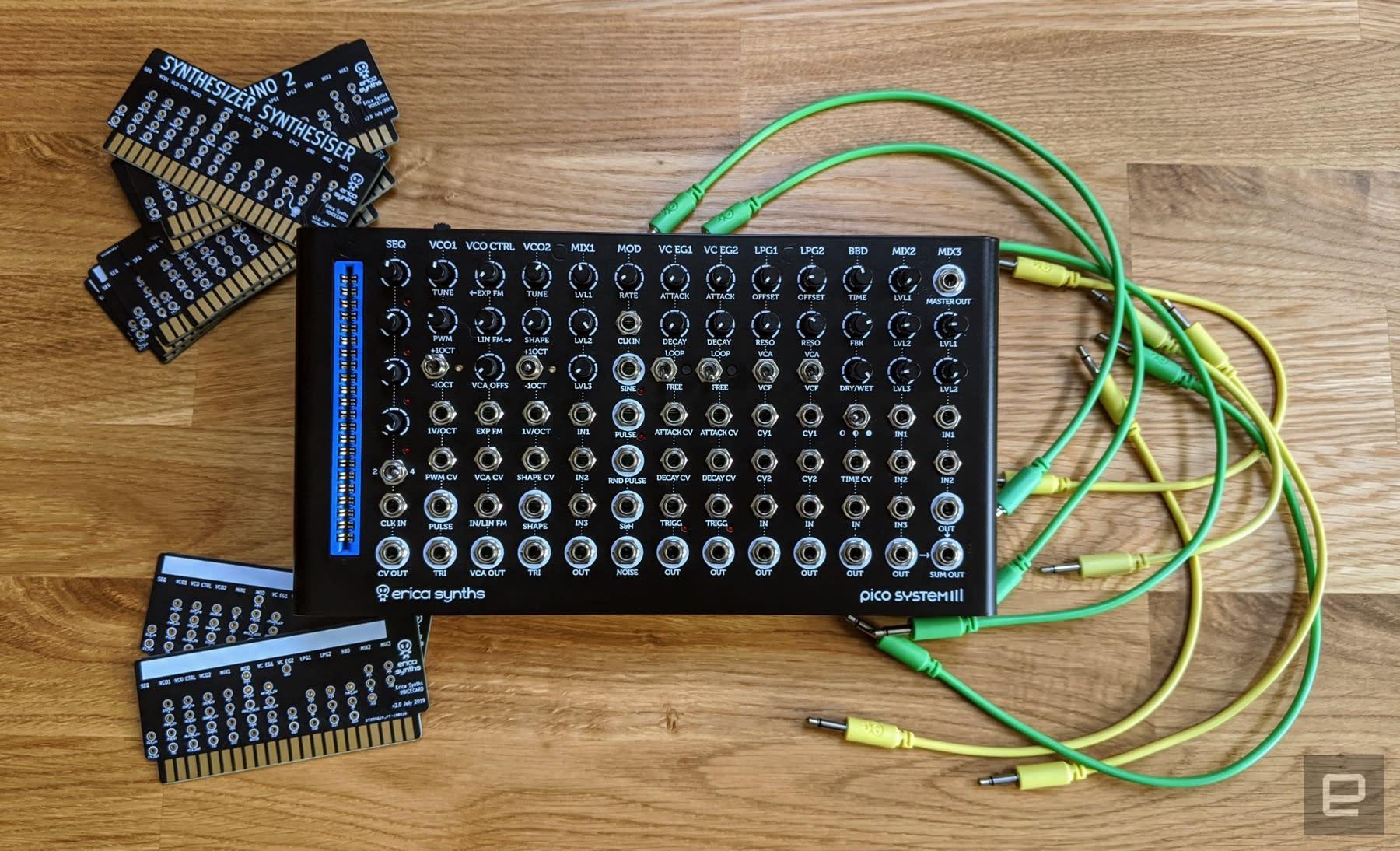 Erica Synths' Pico System III desktop modular west coast synthesizer