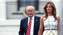 Melania Trump Stands By Her Man — Just Like Many High-Profile Wives Did Before Her