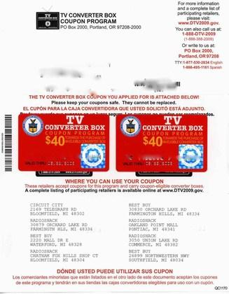Half of government-issued digital TV coupons have expired before use