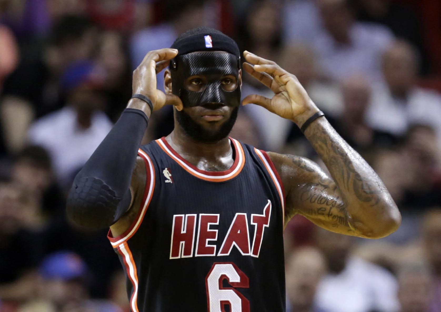new products b6d5c fa3d1 The NBA put the kibosh on LeBron James\' black mask | Lebron ...