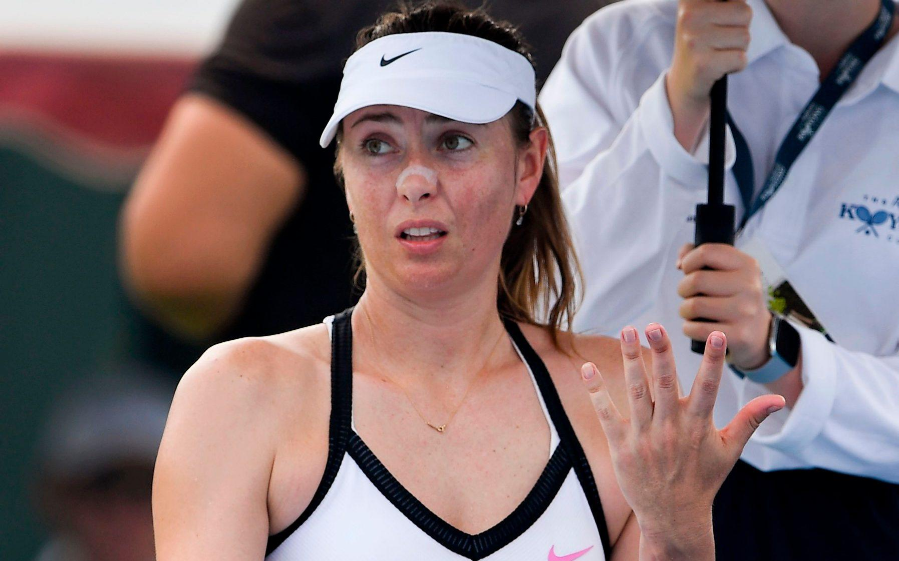 Maria Sharapova Breaks Off The Match And Qualification For