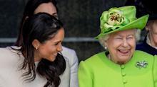 Meghan Markle and Queen Elizabeth Are a Giggly Dynamic Duo During Their First Solo Outing
